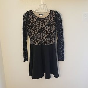 Venus Black Dress with Lace
